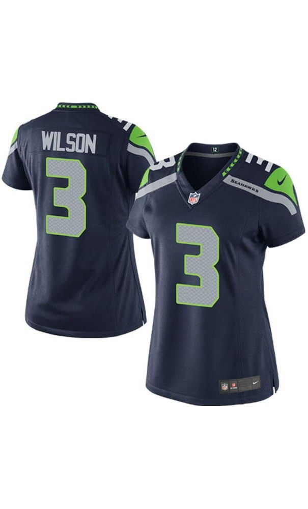 NFL Women's Seattle Seahawks Russell Wilson College Navy #Game #Jersey.