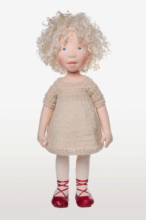 Michaela Handmade cloth doll by AldegondeCeelen on Etsy