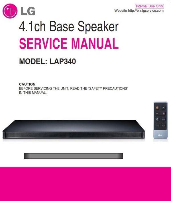Lg Lap340 Soundplate Service Manual And Repair Guide Repair Guide Repair Electrical Troubleshooting