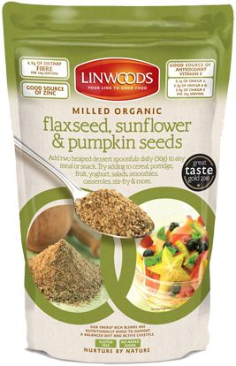Ground Organic Flaxseed, Sunflower & Pumpkin Seeds from Linwoods ...