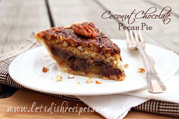Chocolate Pecan Pie Pinterest
