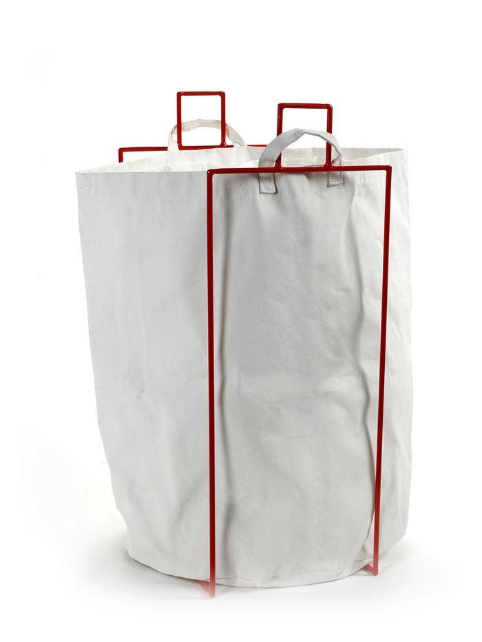 Serax wasmandhouder rood + zak - Dhondt Interieur