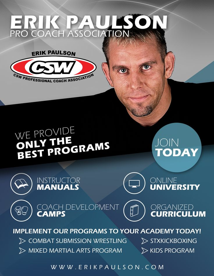 OK guys, the next Coach Development Program Camp is August 25-27 at Main HQ in CA. This is an instructor/coach training camp for the Association affiliates. If you are interested in the program contact me anytime and I can give you the details on joining and becoming part of the team.   http://erikpaulson.com cswatlanta@gmail.com   #erikpaulson #CSW #MMA #STXKickboxing #ErikPaulson'sMMA #CSWCoachDevelopmentProgram #martialarts #selfdefense #fitness #mixedmartialarts…