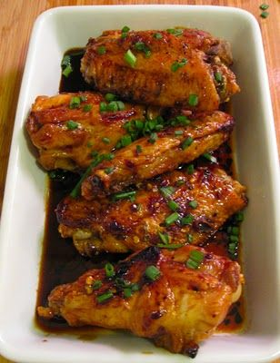Sweet and spicy soy glazed chicken wings | For The Love of Eating and ...