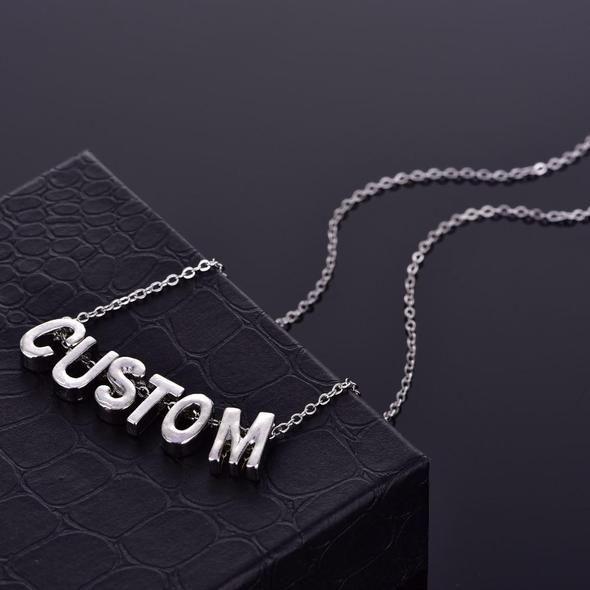 Hot 26 Letter Select Custom Charm Pendant Necklace Women