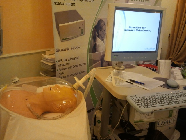 """Quark RMR displayed during the """"Update on Metabolism and Nutrition in Intensive Care Medicine"""" event (2012)"""
