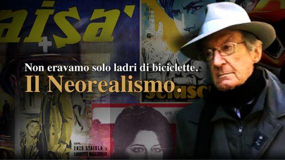 """Carlo Lizzani, uno dei maestri di questo filone, ricostruisce in prima persona la nascita e lo sviluppo del Neorealismo in Italia, nel secondo dopoguerra, momento in cui si combinarono tecniche cinematografiche innovative ed uno sguardo nuovo basato su una lettura """"vera"""" della realtà."""