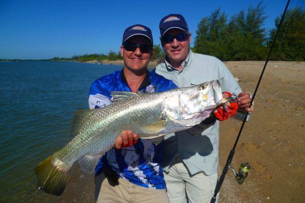 Beach Barra Fishing at Cape York with Les Marsh Classic Aussie Barramundi