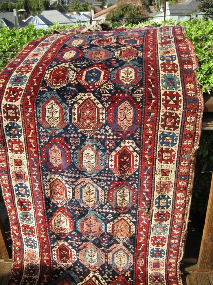 "1880 ANTIQUE CAUCASIAN ARMENIAN SHUSHI KARABAGH RUG AMAZING COLORS 8'11""X 3'2"""