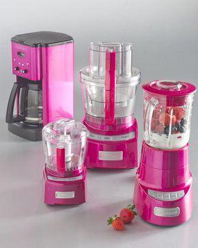 Cuisinart Metallic Pink Kitchen Appliances contemporary small kitchen appliances