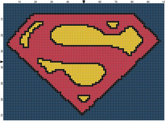 Superman Counted Cross Stitch