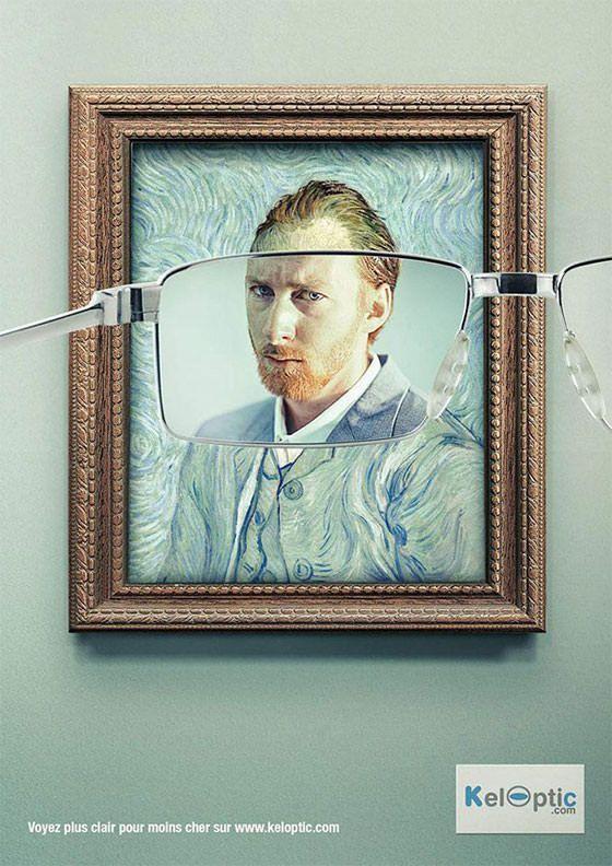 Keloptic: Impressionism2  モダン絵画もこんなにくっきり見えてしまう、というメガネの広告でした。
