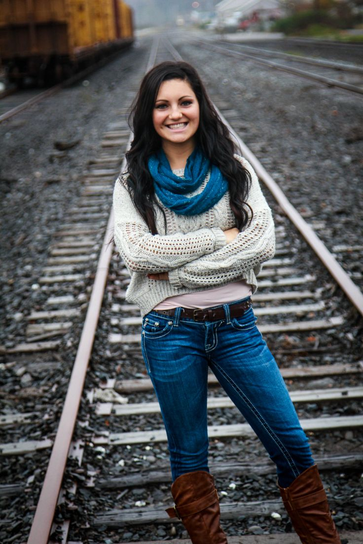 Senior picture~ I like the railroad but I hear its illegal to be on them