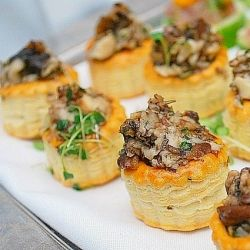 Herbed Mushroom Stuffed Pastry Cups: An elegant appetizer for any occasion!
