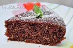 Шоколадный пирог с орехами и грушей в мультиварке Поларис. Рецепт тут http://promulti.ru/vyipechka/shokoladnyij-pirog-v-multivarke.html
