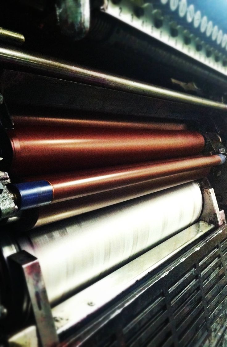 Laying down ink on one of our large offset presses.  #printing #offset #lithography