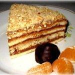 Быстрый ореховый торт на сковороде с шоколадным кремом