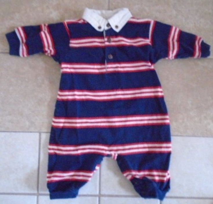 Baby Boy's One Piece Outfit HARTSTRINGS Long Sleeves and Pants Stripes Blue Red #Hartstrings #Everyday