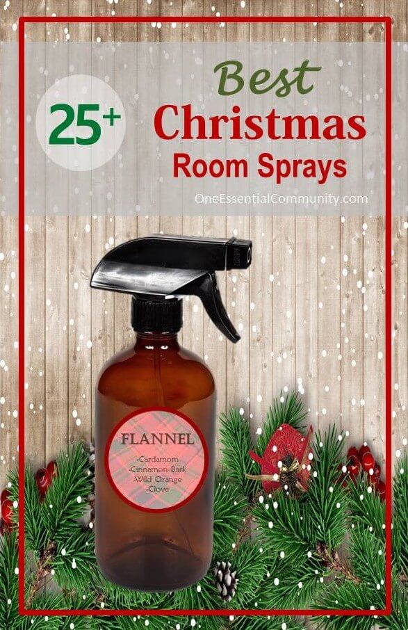 Christmas room fresheners made with essential oils-- I love making room sprays…