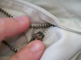 Another pinner wrote--Just used this tutorial - Took less than 5 min to save a pair of pants that I was about to throw away.  Tutorial: How to Fix a Broken Zipper