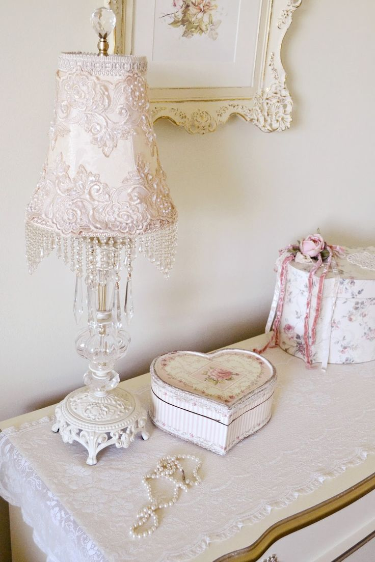 What A Sweet Lamp. Find This Pin And More On Shabby Chic Lampshades! ...