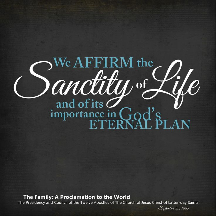 Sanctity Of Life Bible Quotes: 17 Best Images About The Family: A Proclamation To The