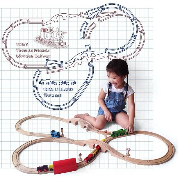 Ikea Lillabo train track layout idea