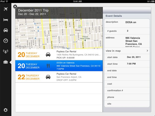 I dig Kayak's new tablet UI.
