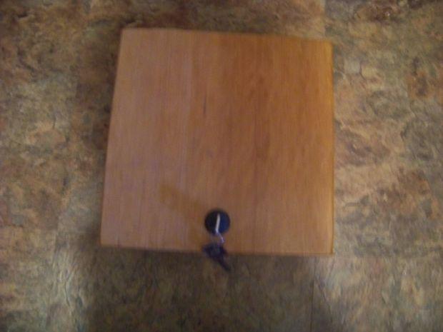 Wooden lock box tutorial jewelry box plans pinterest for Wooden box tutorial