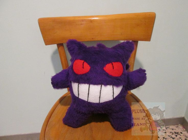 Detto fatto! :D -Gengar Pokemon- peluche -Materiali:Tessuto peluche, pannolenci, filo e ago e ovatta sintetica -Altezza: quasi 33 cm -Stato: disponibile Che ne dite? Vi piace?  :D ------------------------------------- Gengar Pokemon- plush Materials: plush fabric, felt, thread and needle and synthetic wadding height: about 33 cm status: available