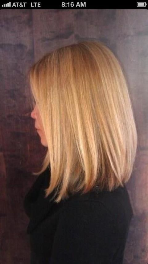 Long bob, love the color