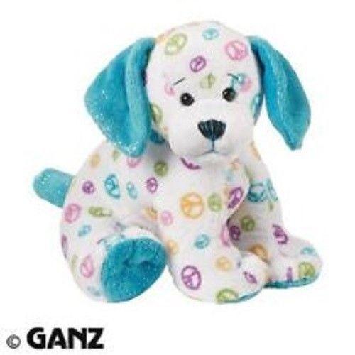 Webkinz Ganz NO CODE Peace Sign Puppy Dog Plush Stuffed ...