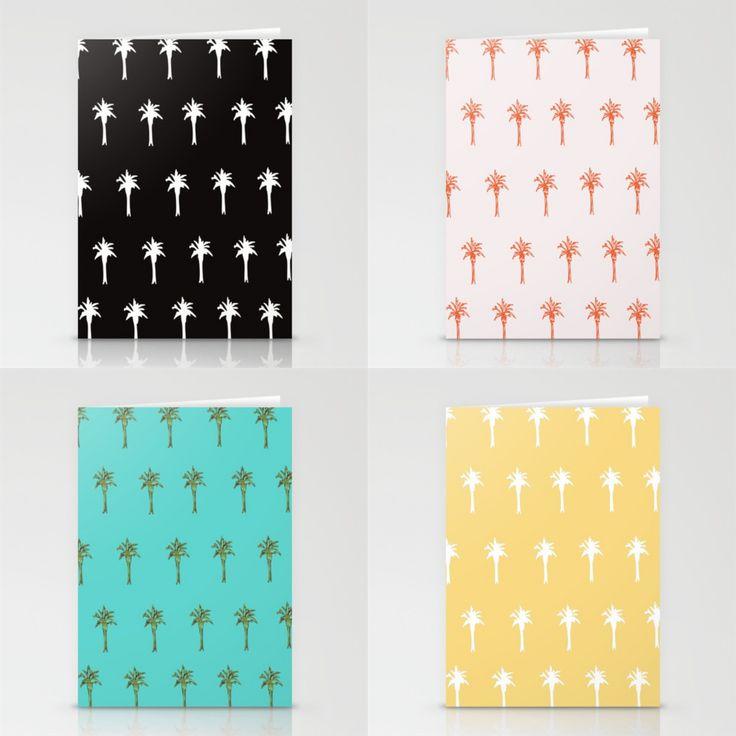 New Palm Stationery Cards on Etsy by Indigo Wave Studio