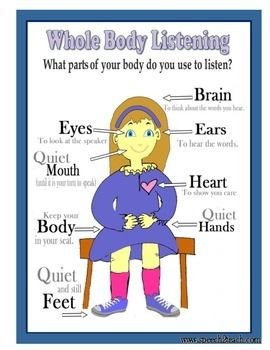 whole body listening coloring pages - photo#21
