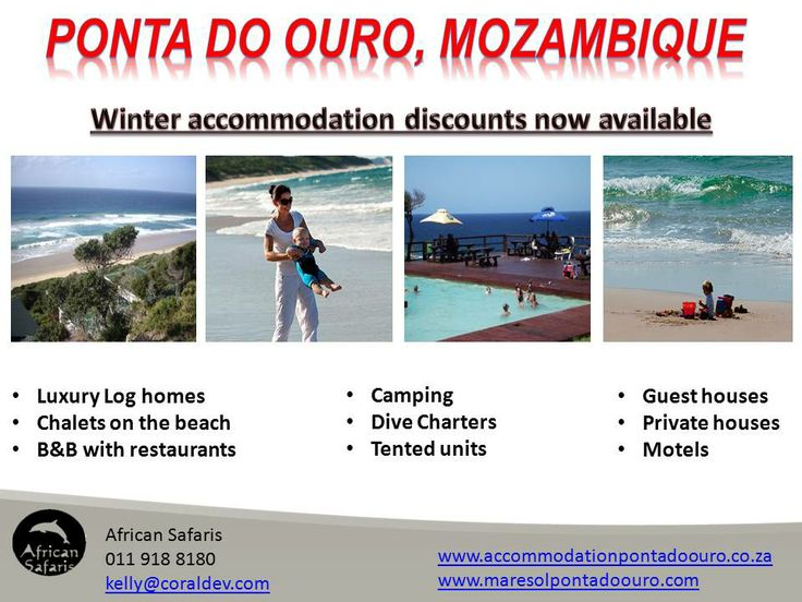 Winter Accommodation Specials in Ponta Do Ouro Southern Mozambique