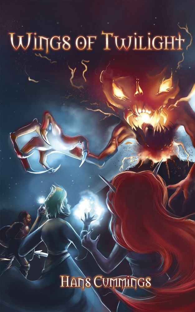 Wings of Twilight original cover  Art & Design by Rowena Aitken