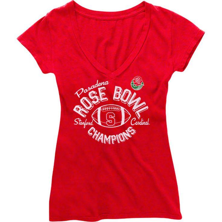 Stanford Cardinal Women's 2013 Rose Bowl Champions T-Shirt - Cardinal