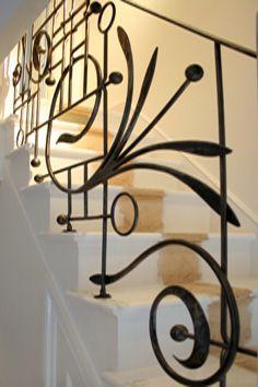 contemporary wrought iron balustrade
