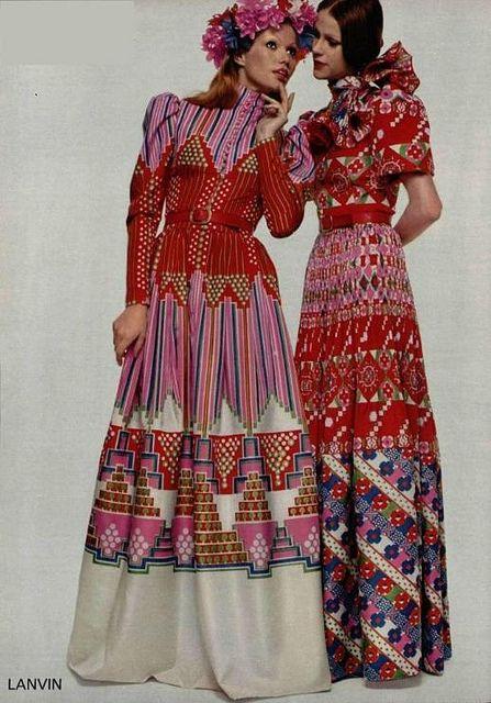Vintage Lanvin 1972 Fashion