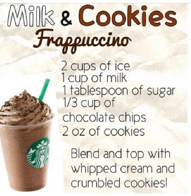 DIY Starbucks milk and cookies frappuccino! Yum!