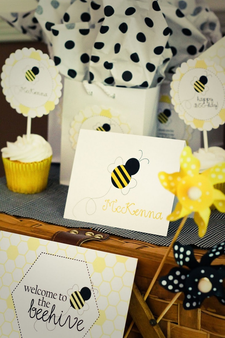 The 720 best bee shower images on Pinterest   Baby showers, Nappy ...