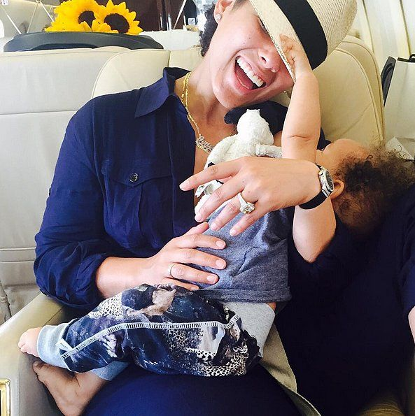 "In July 2015, Alicia posted a picture of her and baby Genesis, joking, ""He's trying to steal my hat!! Help me!!! These are the most precious of my #28000days."""