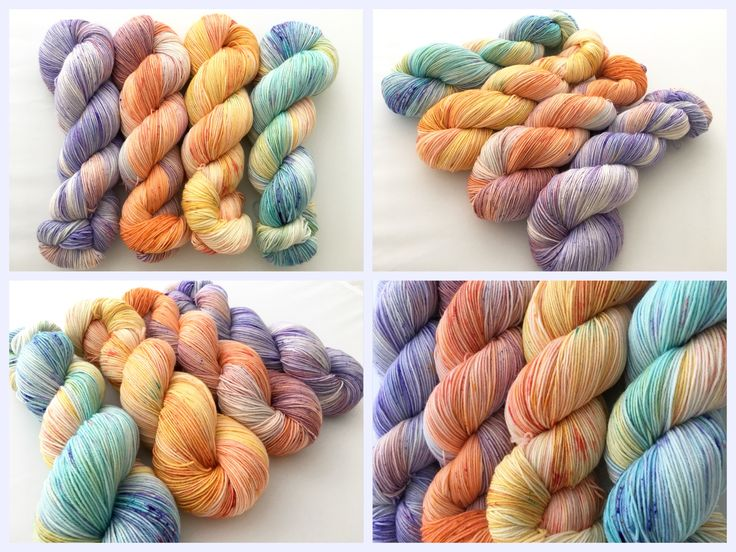 Summer Set. Witch Candy Yarn colorways