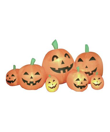 Take a look at this Orange Pumpkins Inflatable Light-Up Lawn Decoration by BZB Goods on #zulily today!
