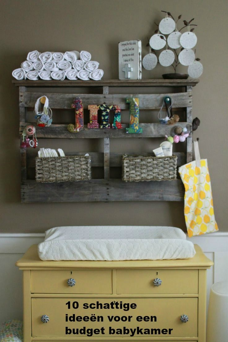 10 te schattige ideeën voor een budget babykamer. Wil jij ook meer inspiratie opdoen, kijk dan op www.budgi.nl #babykamer #baby #kast #commode