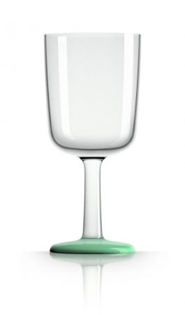 Marc Newson unbreakable wine glasses (pack of 4) - Image Green Glow-in-the-dark