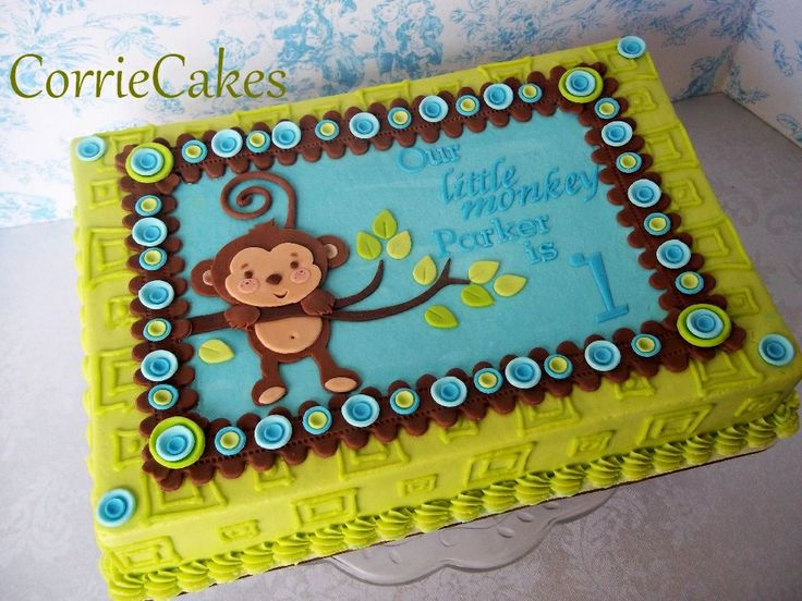1000 images about slab cakes on pinterest sheet cakes for Decorating 1st birthday cake