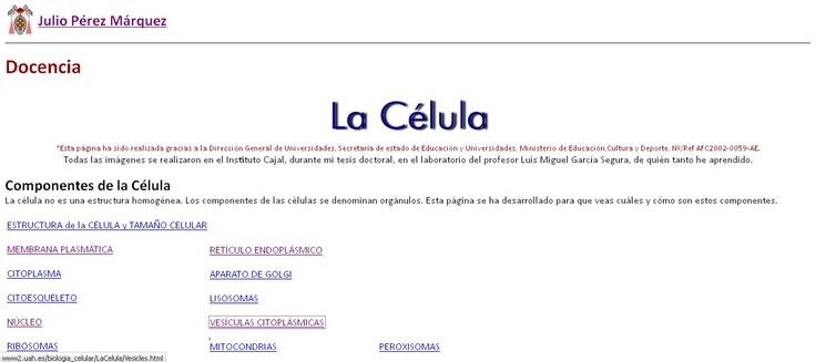 La Célula es una página web dedicada al estudio de los componentes celulares.