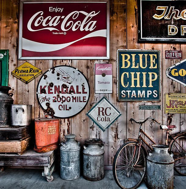garage decor garage vintage metal signs vintage et. Black Bedroom Furniture Sets. Home Design Ideas