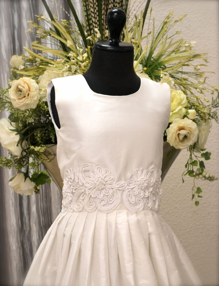 First Communion Dress, Couture Communion Dress, Holy First Communion Dress, Confirmation Dress, Couture Graduation Dress, Flower Girl Dress by CouturesbyLaura on Etsy https://www.etsy.com/listing/203615314/first-communion-dress-couture-communion